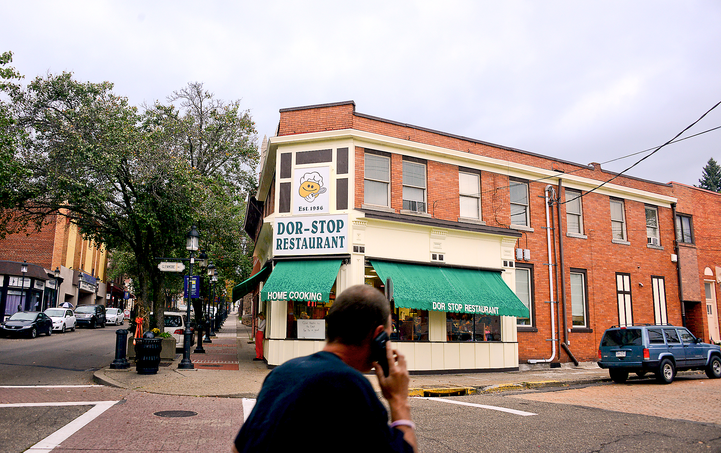 20151009lf-Restaurant03-1 The exterior of Dor-Stop Restaurant in Dormont, a popular local breakfast and luncheon spot on Potomac Avenue.
