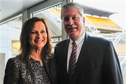 UPMC's Scott Lammie, seen here with his wife, Sue, will be given the Chuck Cooper Leadership, Diversity & Community Service Award.