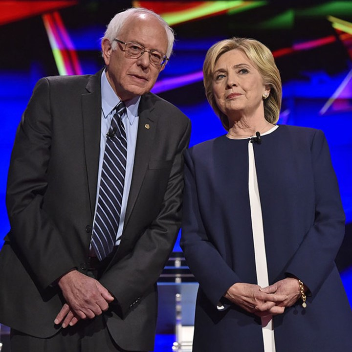 sanders clinton 1016 Democratic presidential candidates Bernie Sanders and Hillary Clinton