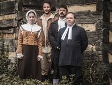 "Prime Stage Theatre opens its 2015-16 season with director Scott P. Calhoon's rendition of ""The Crucible,"" starting Oct. 30 at the New Hazlett Theatre. From left, Adrianne Knapp (as Abigail Williams), Jason Spider Matthews (as John Proctor), Jason Michael Swauger (as Rev. Samuel Parris) and George Saulnier (as Rev. John Hale)."