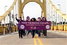 Transplant advocates promote organ donation on the Clemente Bridge and city streets.