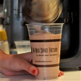 A Cajun chocolate milkshake is poured during happy hour at The Milk Shake Factory in June 2012.
