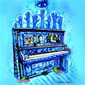 "Poster art by Vanessa German for August Wilson's ""The Piano Lesson"" at the August Wilson Center."