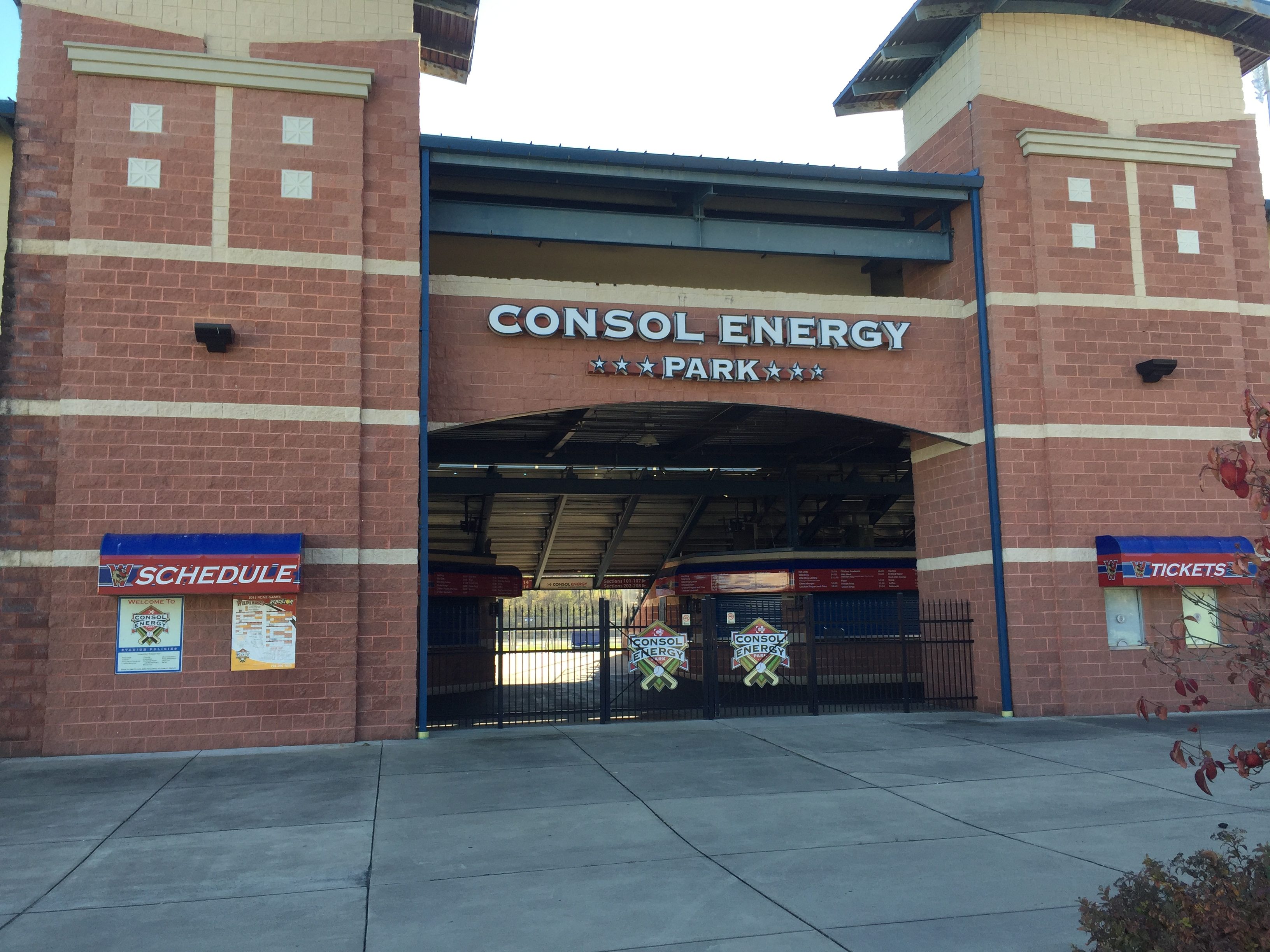 outsidehomeplatenetrance2.JPG Consol Energy Park, a Washington County ballpark, is looking for a new namesake come 2017.