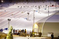 Snow tubing is a popular evening activity at Wisp Resort.