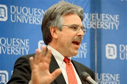 A faculty group at Duquesne University wants university President Ken Gormley to take a stand against President Donald Trump's immigration policy.