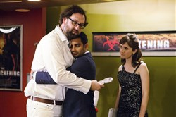 "Netflix's ""Master of None"" features Eric Wareheim, left, Aziz Ansari and Noel Wells."