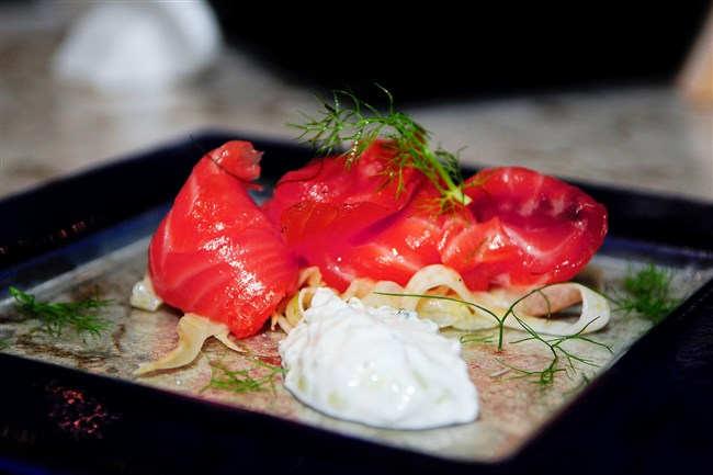 Cured Salmon at Poros in Market Square.