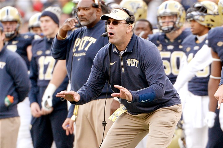 20151106mfpittsports14-4 Pitt coach Pat Narduzzi enters National Signing Day with the No. 29 recruiting class in the country, according to Rivals.