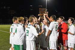The South Fayette boys soccer team is moving to Class AAA in realignment and will not be able to defend its Class AA crown.