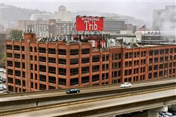 The Pittsburgh Tribune Review's offices at the former Clark Candy building on the North Shore. The company plans to stop printing the Pittsburgh edition of its newspaper on Nov. 30. After that, it plans to resume coverage in a digital-only format.