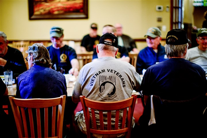 20151105arVietnamVets01 A group of Vietnam veterans gather for breakfast each week at Gianna Via's Restaurant in Whitehall.