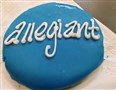 For the Nov. 5 inaugural flight of Allegiant Air from Pittsburgh to Sanford an Allegiant cookie was given to passengers to celebrate.