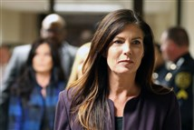 Kathleen Kane leaves the courtroom at the Montgomery County Courthouse.