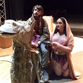 "Clarion University students rehearse a scene from ""Jesus in India"" before the production, originally scheduled to run Nov. 18-22, was canceled."