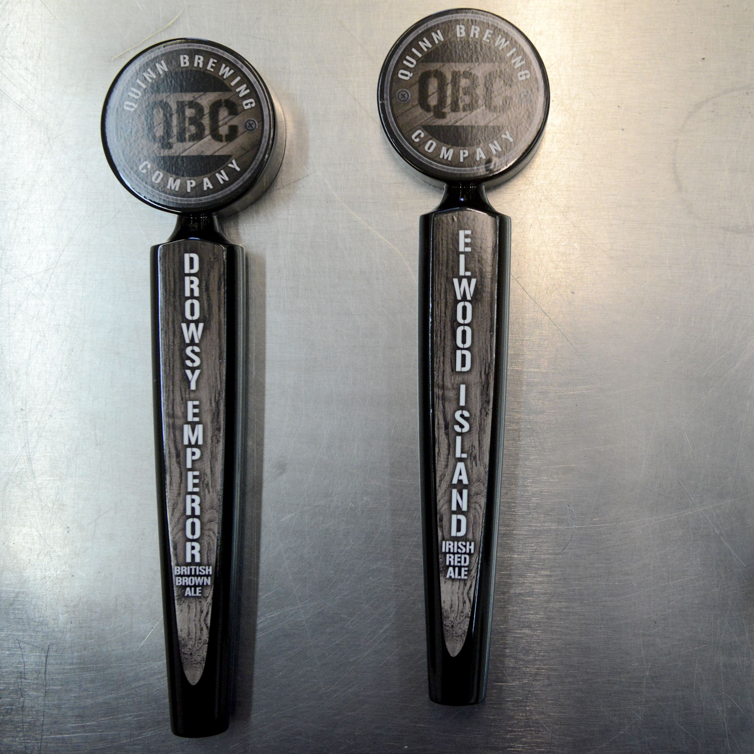 20151114MWHbrewerySunMag04-3 Taps that will be used for Quinn Brewing Co. beers, which will begin production this month.