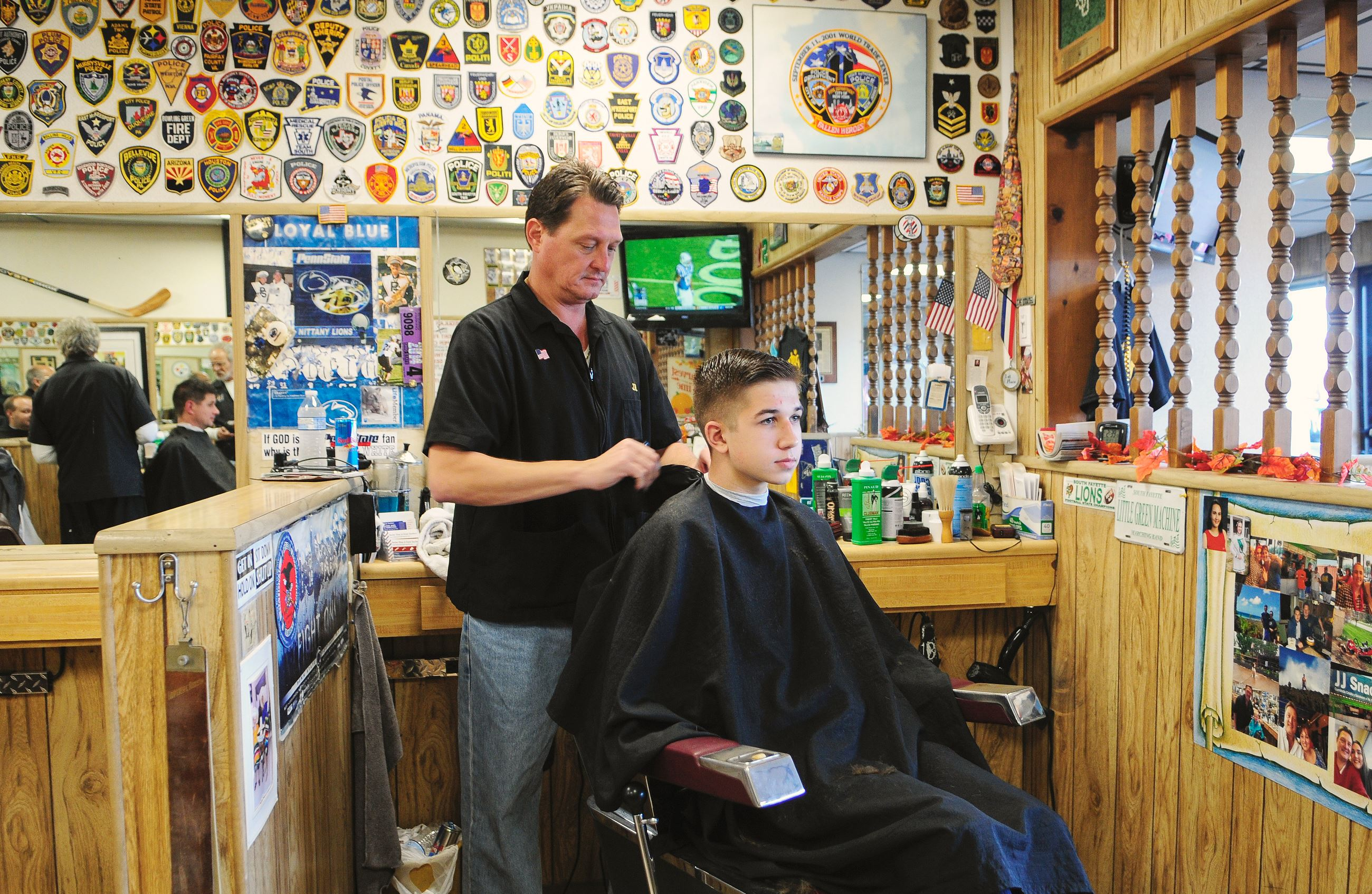haircut in Mr. Hoffman?s barber shop, the Great Southern Barber ...
