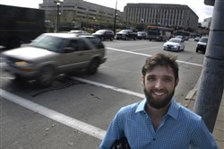 Pitt grad student Matt Bauman's work is now part of the discussion as Bike Pittsburgh and others lobby for better traffic control in the Oakland corridor.