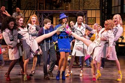"Billy Porter, center, with co-star Stark Sands, left center, and the ""Kinky Boots"" Angels. Pittsburgh native Porter is set to leave his Tony-winning role as drag queen Lola tonight."