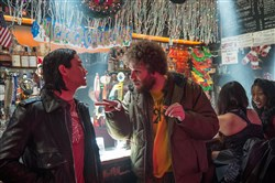 "Joseph Gordon-Levitt, left, and Seth Rogen star in ""The Night Before."""