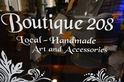 Boutique 208, at 208 6th Street, features local handmade art and accessories.