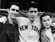 The DiMaggio brothers, from left: Vince, Joe and Dom.