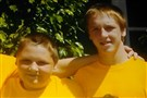 David McIntyre, 11, poses with his 16-year-old brother CJ Mikula-Conrad at Kennywood in July. David was killed, and CJ was injured when a gunman opened fire in their Mount Oliver home Nov. 1.