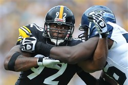 """He's the ageless wonder,"" Ben Roethlisberger said of James Harrison."