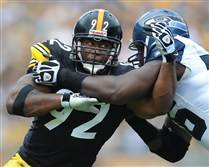James Harrison and the Steelers will play the Seahawks Sunday afternoon in Seattle, a city where the black-and-gold has had little but gloom and doom.