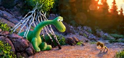 """The Good Dinosaur"" tells the story of Arlo, a lively Apatosaurus with a big heart who sets out on a remarkable journey, gaining an unlikely companion along the way?a  human boy."
