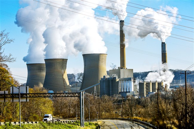 The Bruce Mansfield coal-fired power plant in Shippingport is owned by Akron-based FirstEnergy Corp.