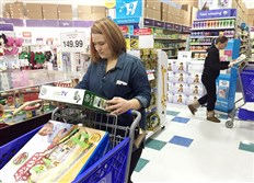 Cindy Edwards, of Cranberry, was one of many shoppers who were getting a headstart on their holiday shopping on Thanksgiving. Ms. Edwards was looking to snag some good deals at the Toys 'R' Us in Cranberry.