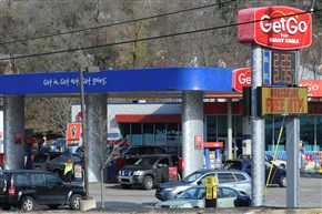 A Getgo gas station on Route 51 in Baldwin.