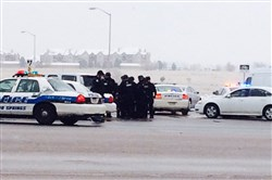 Authorities respond after reports of a shooting near a Planned Parenthood clinic today in Colorado Springs, Colo.