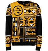 An ugly holiday sweater for Steelers fans from fanatics.com.