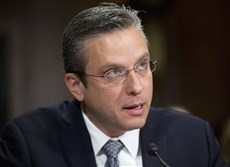 Puerto Rico Gov, Alejandro Javier Garcia Padilla testifies on Capitol Hill in Washington, D.C., on Tuesday before the Senate Judiciary Committee hearing on Puerto Rico's fiscal problems.