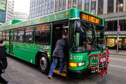 According to the Port Authority, passengers will still need to board buses through the front door, but can exit in the front for back, according to a policy tweak made recently.
