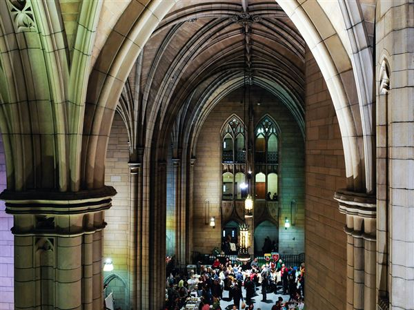 "The Cathedral of Learning Nationality Rooms, which National Geographic described as ""glorious kitsch,"" in this 2015 photo during a Holiday Open House that included ethnic food, performances and demonstrations."