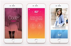 The new app COAT? advises users on whether the weather calls for a coat or an umbrella, plus other styling tips.