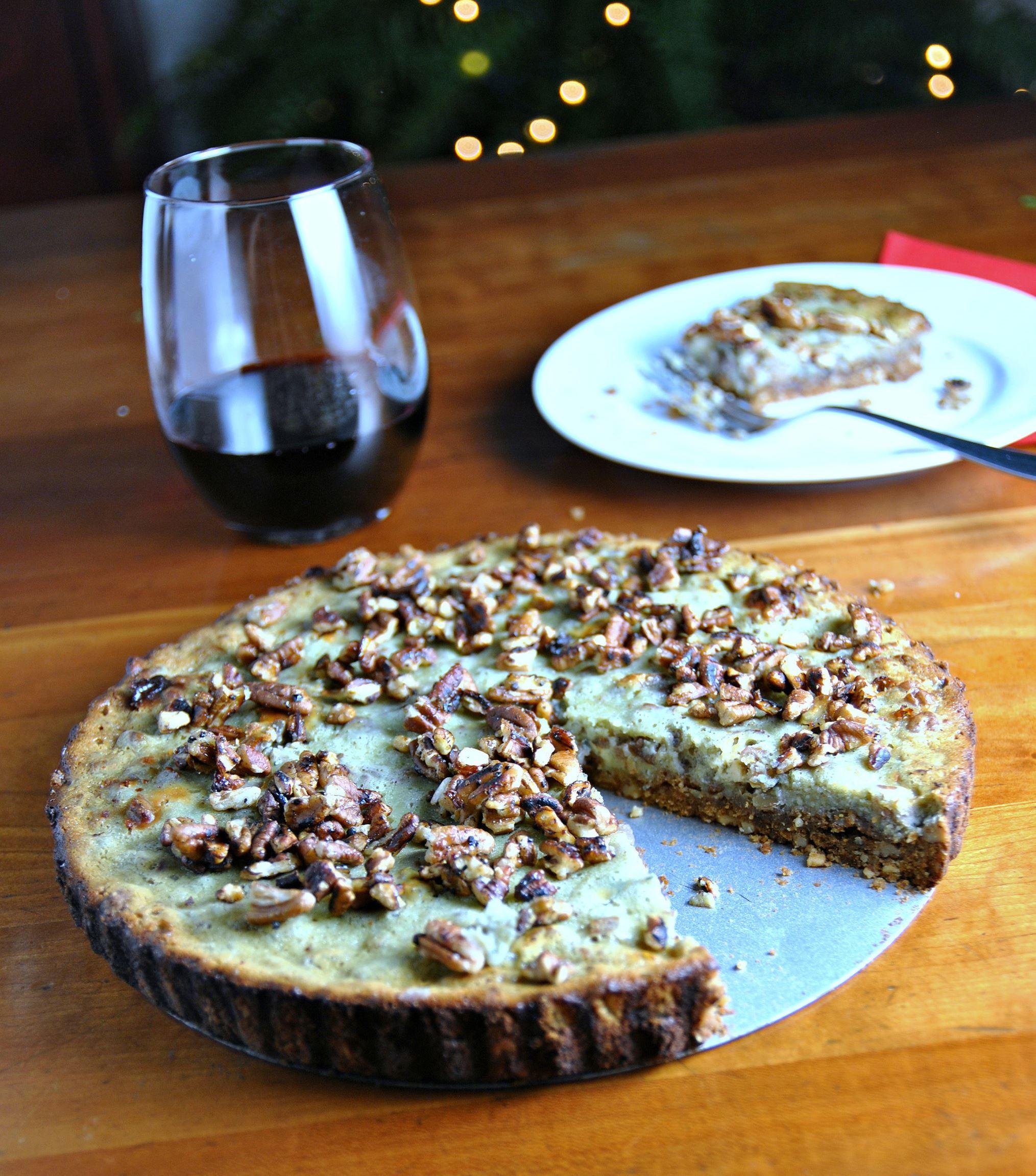 BLUECHEESETART1 Pecan maple blue cheese bourbon tart.