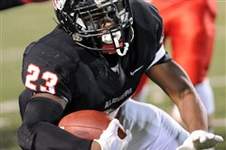 Kaezon Pugh was a two-way threat in leading Aliquippa to a state championship game berth.