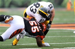 Vontaze Burfict hits Heath Miller last weekend.