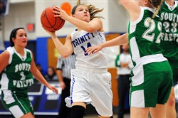 Senior guard Sierra Kotchman, the leading scorer in Trinity history, is averaging a team-best 18.1 points per game.