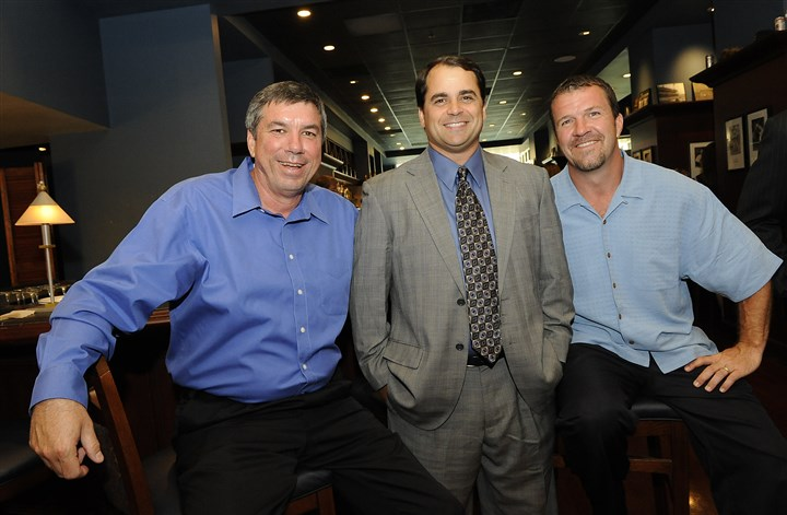 Sports Tim Neverett, middle, left the Pirates broadcasts booth to take a position with the Boston Red Sox. Bob Walk, left, and John Wehner remain as analysts.