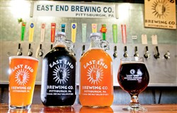 Growlers and beers from East End Brewery.