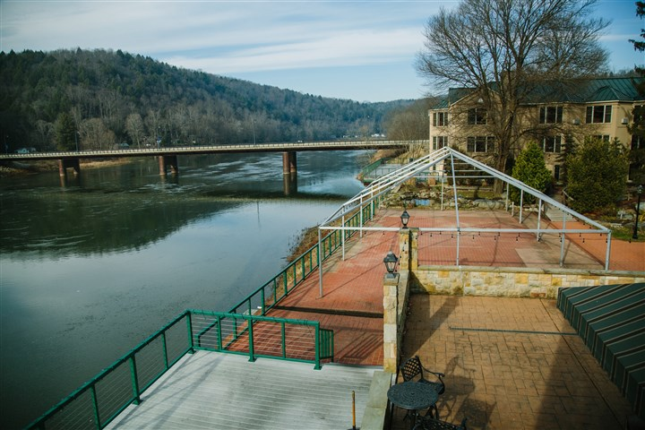 20151207arFoxburg07-6 The view of the Allegheny River from the Allegheny Grille in Foxburg on Dec. 7. Retired orthopedic surgeon Arthur Steffee developed the property and has become a one-man community redevelopment machine since returning to the small town about 10 years ago.