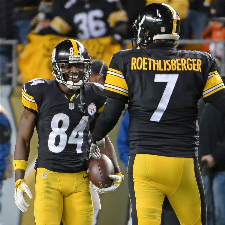 Steelers33 Receiver Antonio Brown and quarterback Ben Roethlisberger are hoping to set Steelers records together.