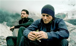 "From left, Edgar Ramirez and Luke Bracey in ""Point Break."""