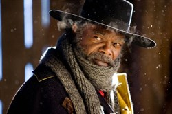 "Samuel L. Jackson stars as Major Marquis Warren in ""The Hateful Eight."""
