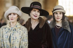"Laura Carmichael, Elizabeth McGovern and Michelle Dockery star in ""Downton Abbey.""   The final season ends March 6."